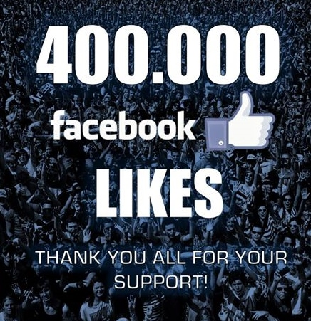 400,000 Likes!  Thank you All!